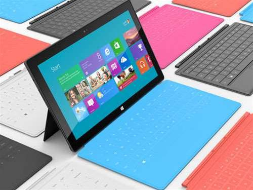 How is Microsoft bucking the downward tablet trend?