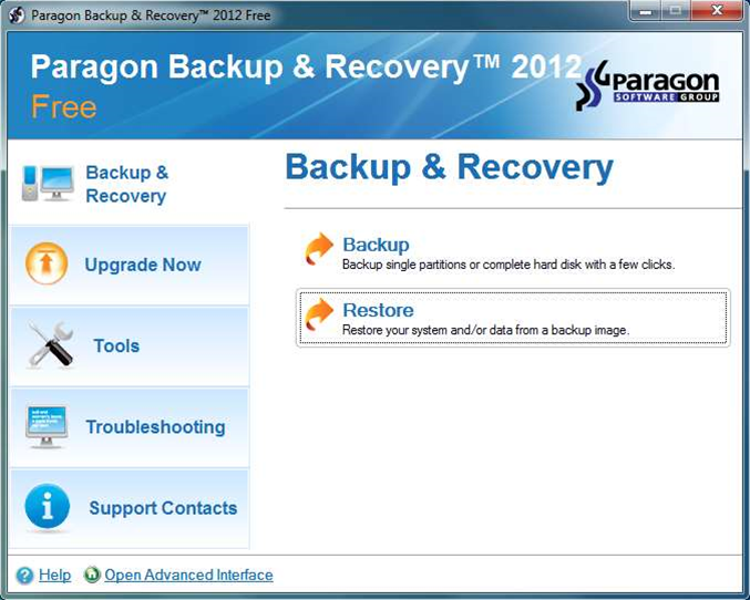 Paragon Backup & Recovery 2012 Free adds Windows 8 compatibility, latest performance engine