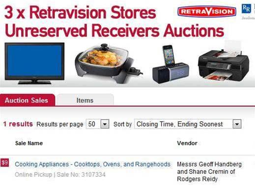 Scuttled Retravision stores offload stock