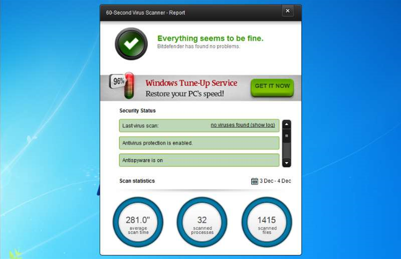 Bitdefender releases cloud-based 60-Second Virus Scanner