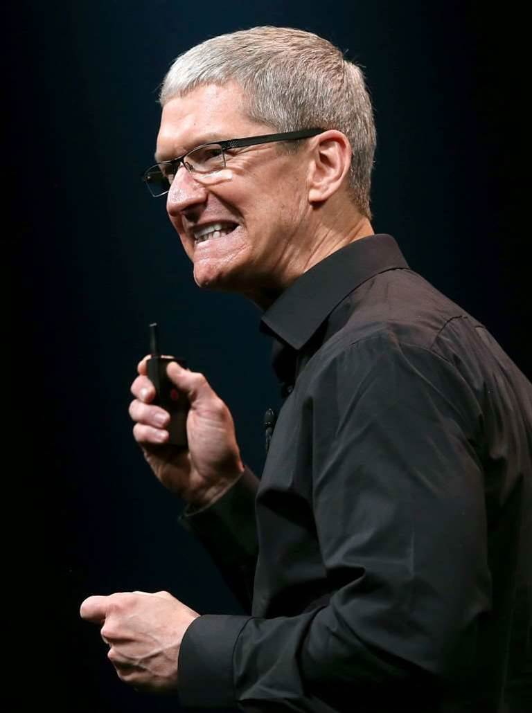 Apple CEO takes big pay cut