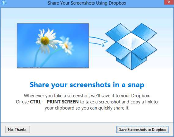Dropbox 2.4 adds screen capture sharing