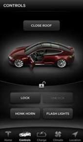 Tesla's iOS app