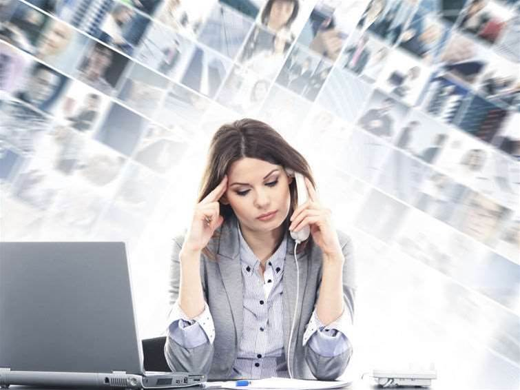 Information overload causing worker stress