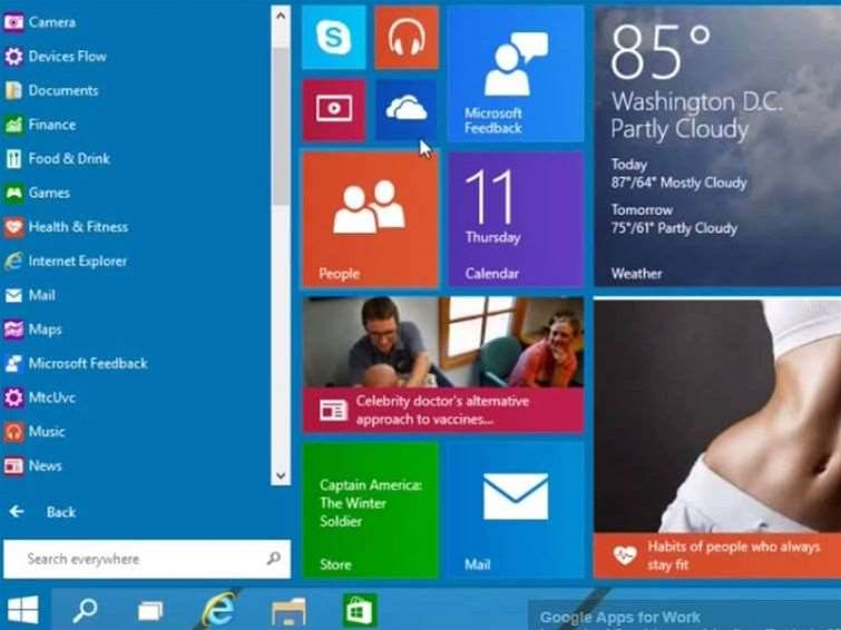 Windows 9 video shows Start menu