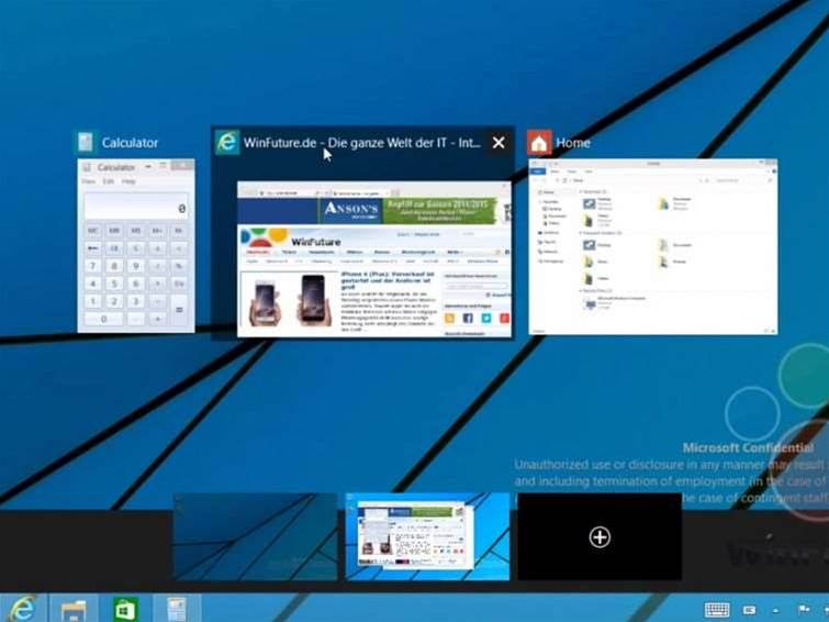 New Windows 9 vid show off multi-desktops and notifications