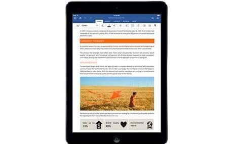 Microsoft sets features free on Office for iPad