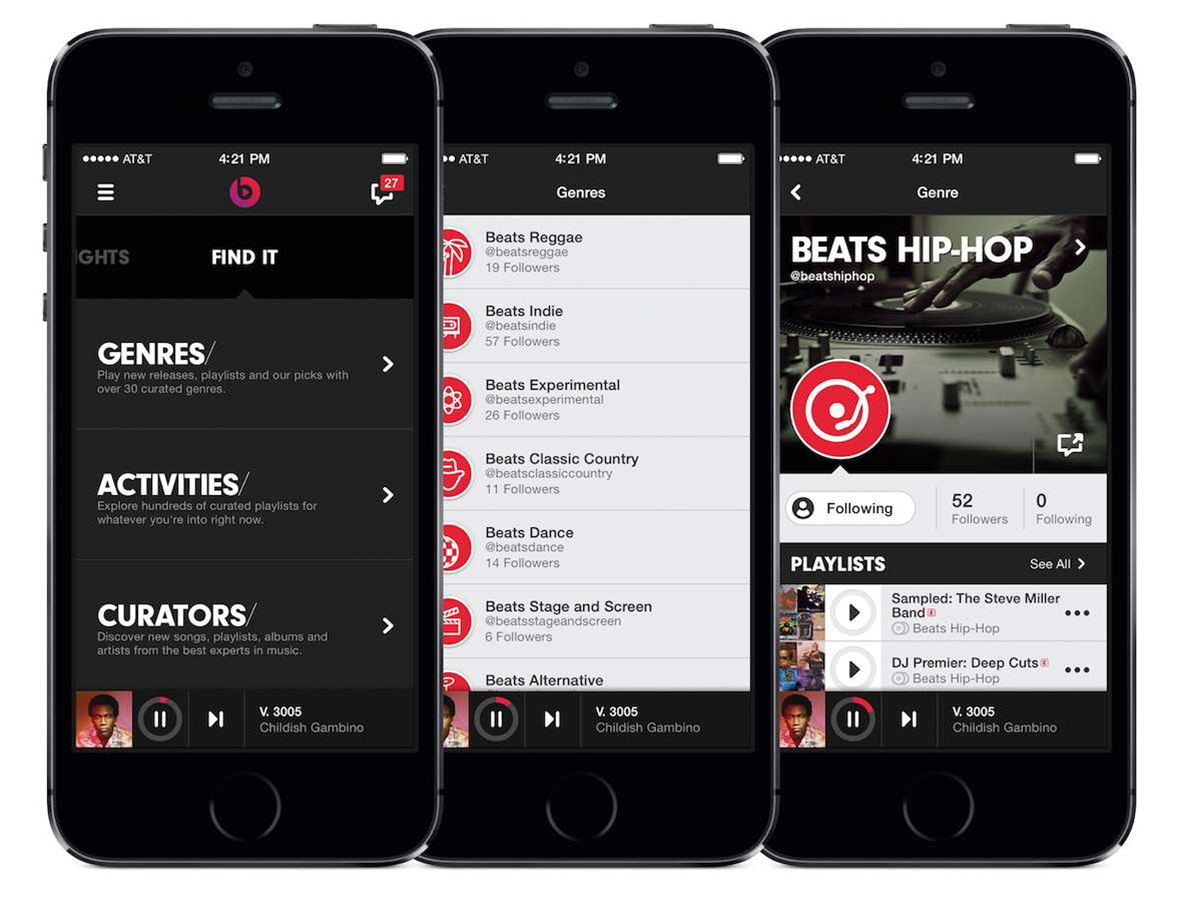 Apple's streaming music service won't have a free, ad-supported option