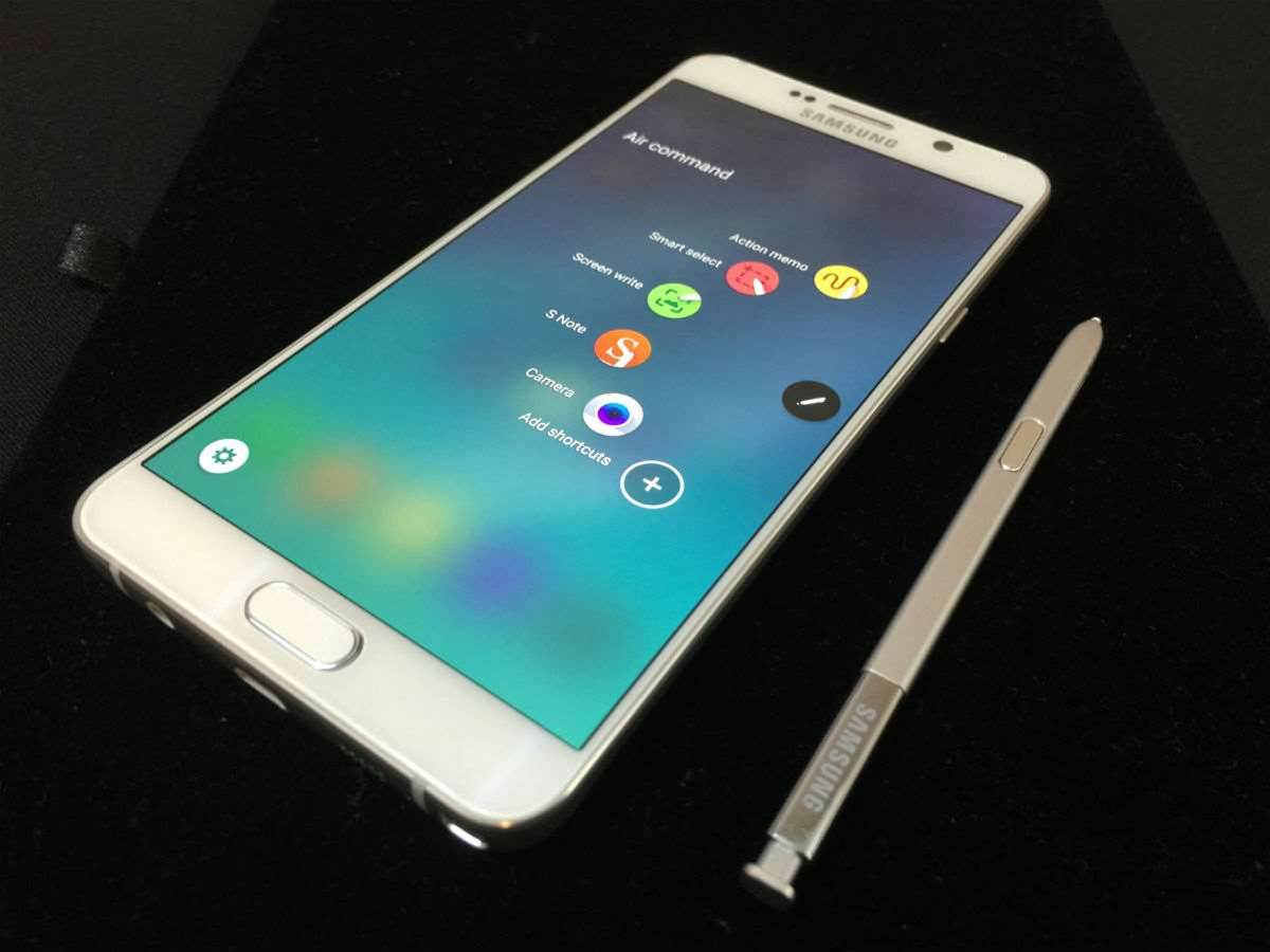 You can break the Samsung Galaxy Note 5 by inserting the S-Pen backwards
