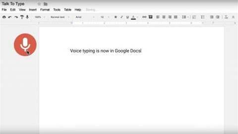Google Docs now lets you type hands-free