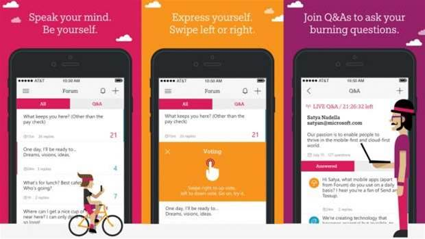 Microsoft's Forum is a Tinder-like app to boost company communication