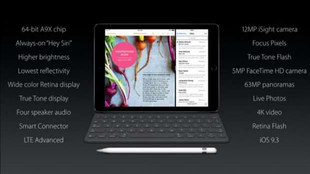 Apple reveals 9.7in iPad Pro