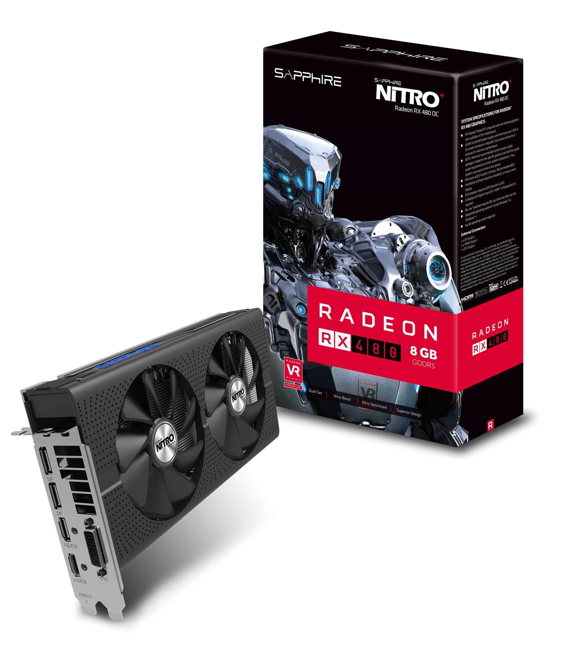 Sapphire reveals Nitro+ Radeon RX 480 video card