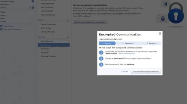 GMX wants to make encryption easy enough for everyone to use it