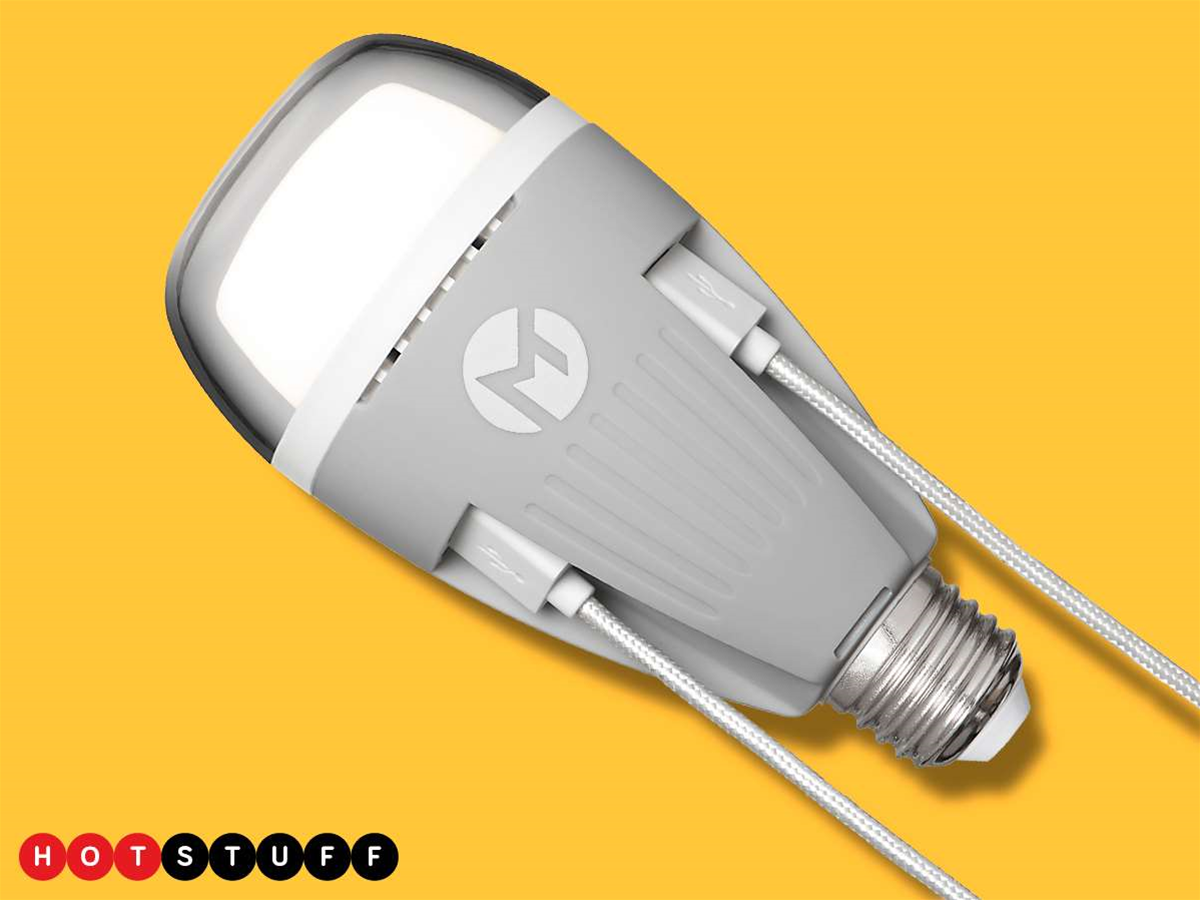 PowerBulb's two USB sockets are a cable lover's delight