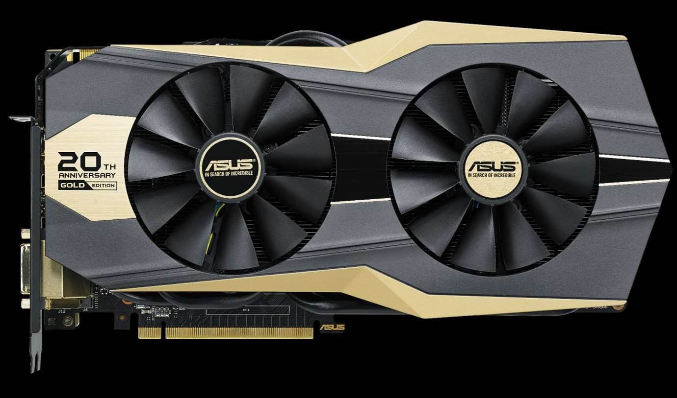 Asus' GeForce GTX 980 Ti 20th Anniversary Gold Edition available this month