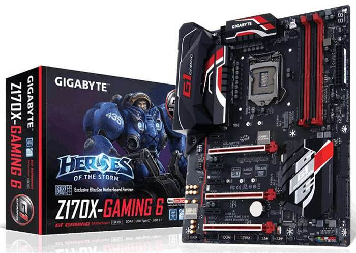 Gigabyte launches new Z170X-Gaming 6 motherboard