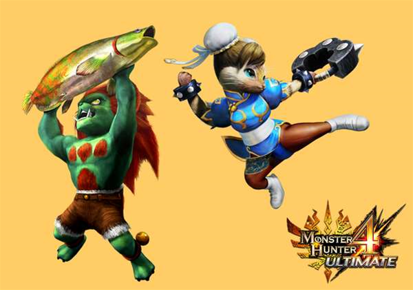Monster Hunter 4 Ultimate will be getting Street Fighter and Devil May Cry equipment