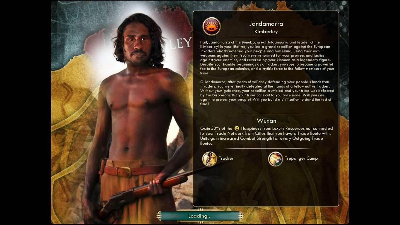 New mod for Civ V lets you play as Kimberley Aboriginals
