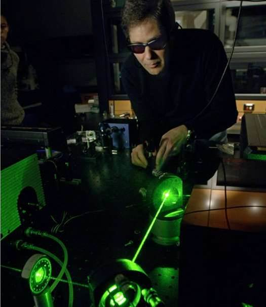 A Beam With the Power of a Laser Pointer Can Detect IEDs at a Distance