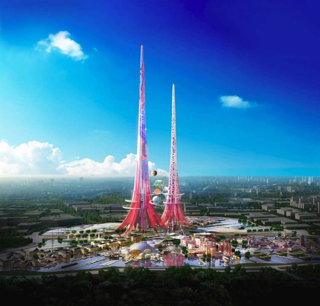 Plans Unveiled for World's Tallest, Pinkest Towers