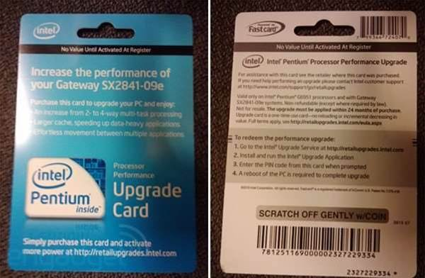 Intel create US$50 DLC for the Pentium G6951