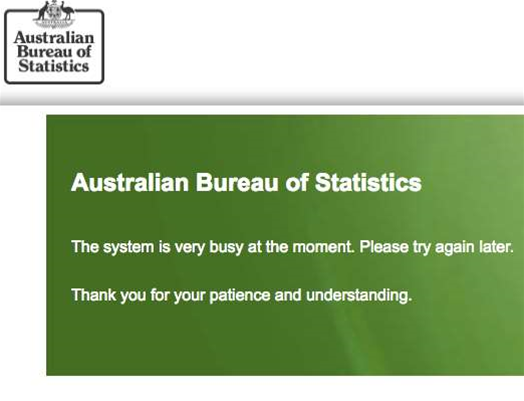 ABS websites buckle on Census night