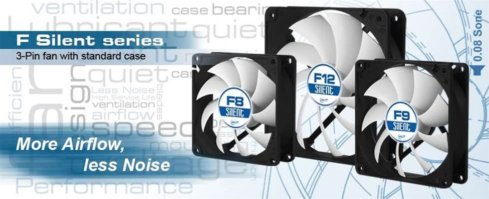 Arctic announces new F-Silent series of case fans