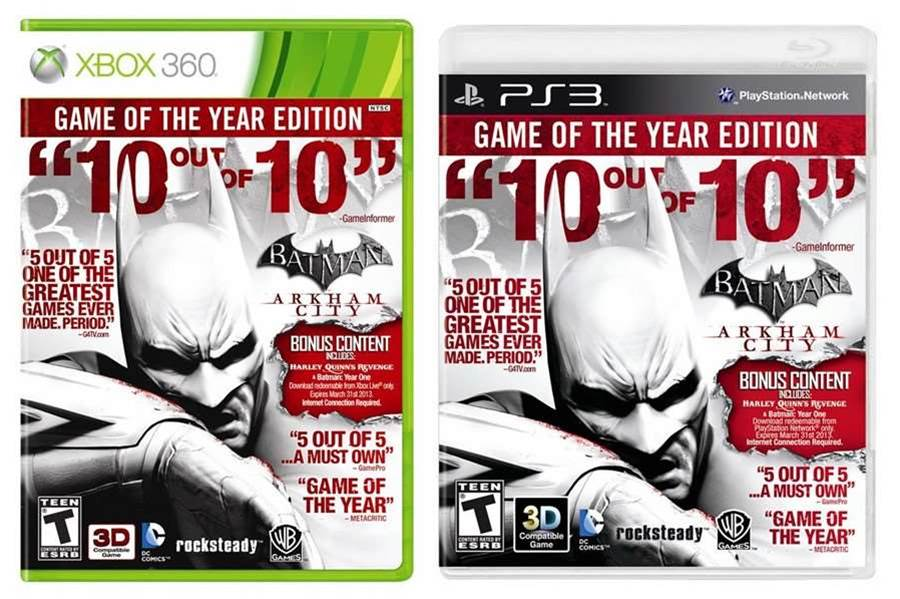 Batman: Arkham City Game of the Year Edition out soon, PC version still ways off