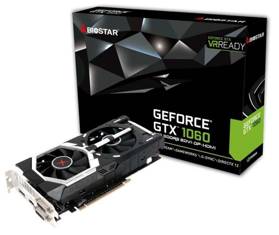 Biostar announces new GTX 1060 6GB card with dual fans