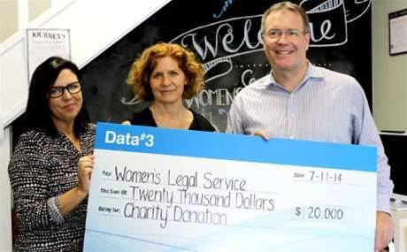 Data#3 raises $20,000 for domestic violence charity
