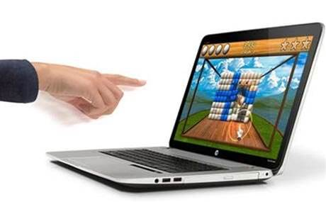 HP notebook builds in Leap Motion