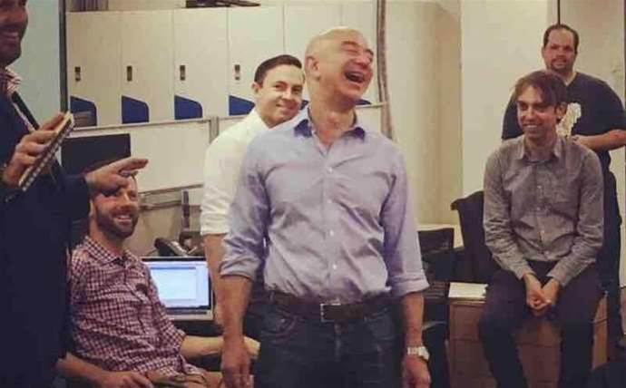 Amazon founder Jeff Bezos charms AWS staff in Sydney
