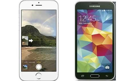 Head-to-Head: Apple iPhone 6 vs Samsung Galaxy S5