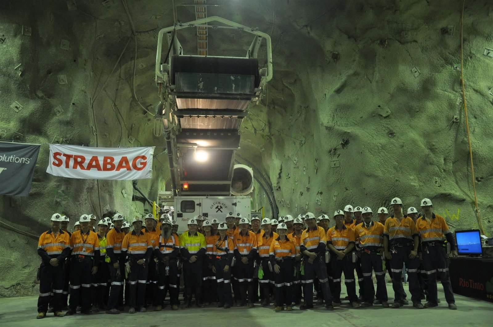 Photos: Rio Tinto trials 64m-long tunnelling machine