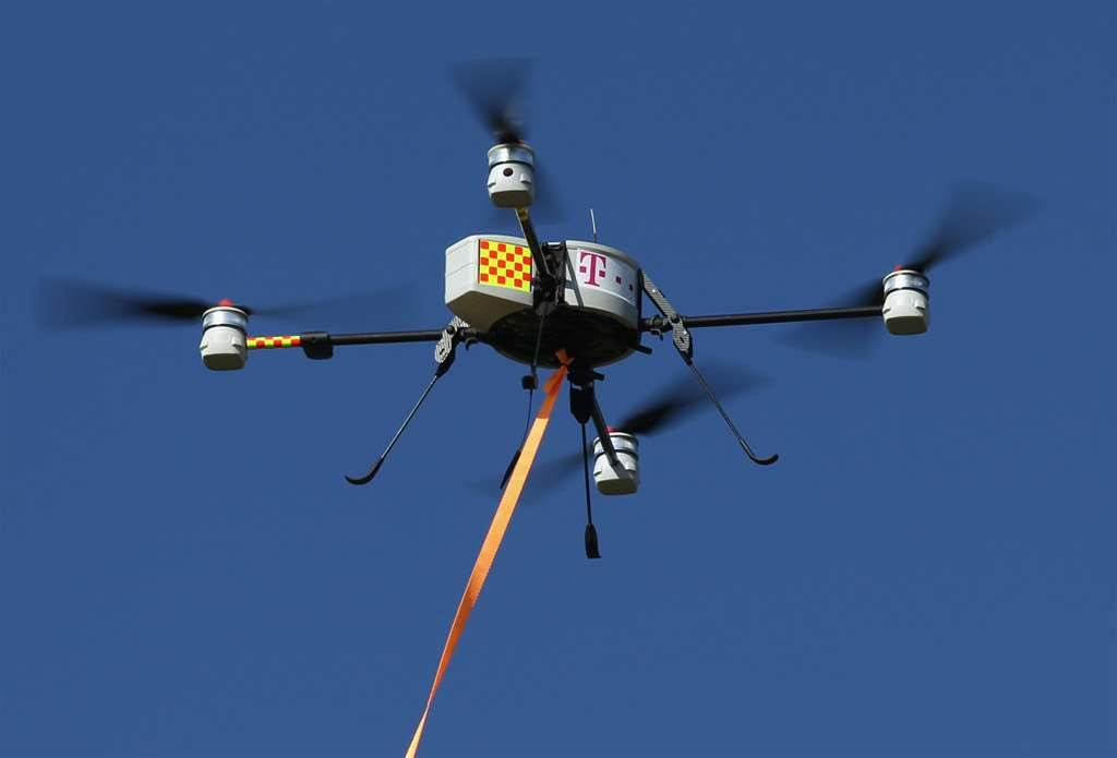Victorian mine drone in near miss with aircraft