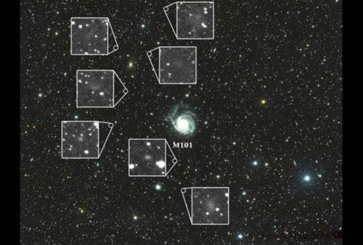 'Homemade' Telescope Spots Seven Dwarves in Space
