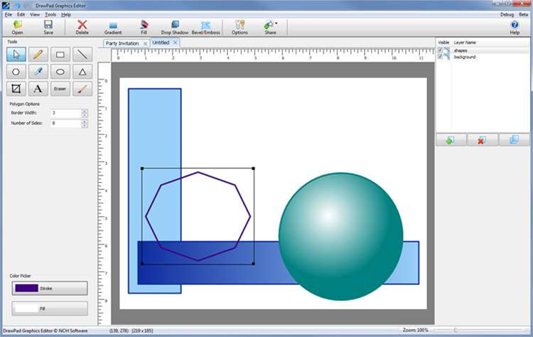 First look: DrawPad Graphics Editor