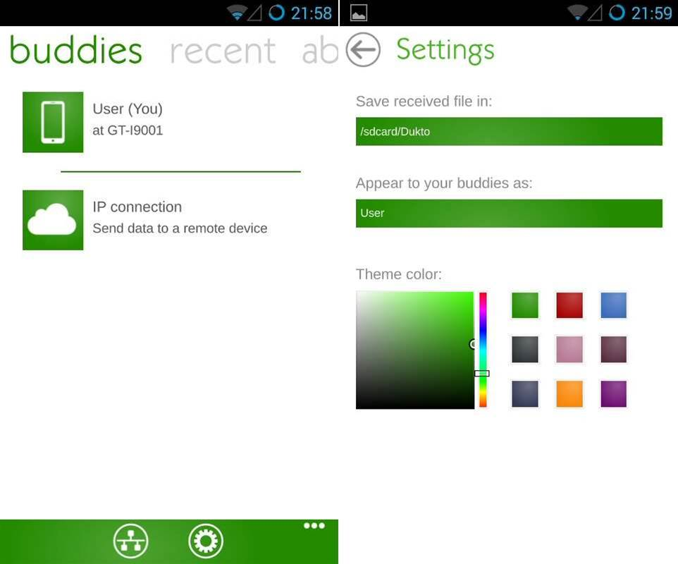 File transfer app Dukto available for Android