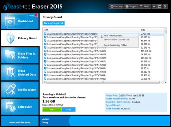 "East-Tec Eraser 2015 debuts ""intelligent Risk Monitor"""