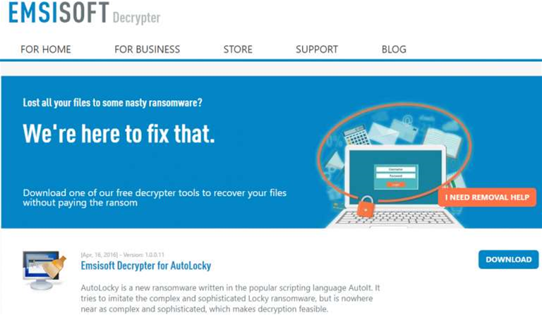 Emsisoft launches ransomware decrypter page