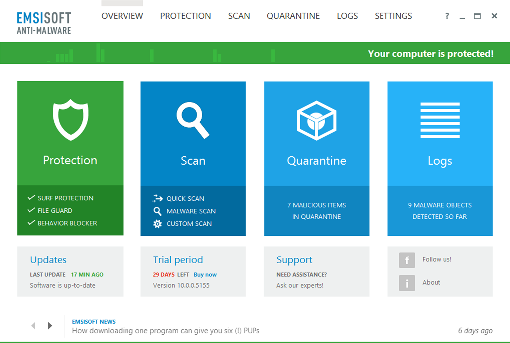 Emsisoft Anti-Malware/Internet Security 10 betas now available