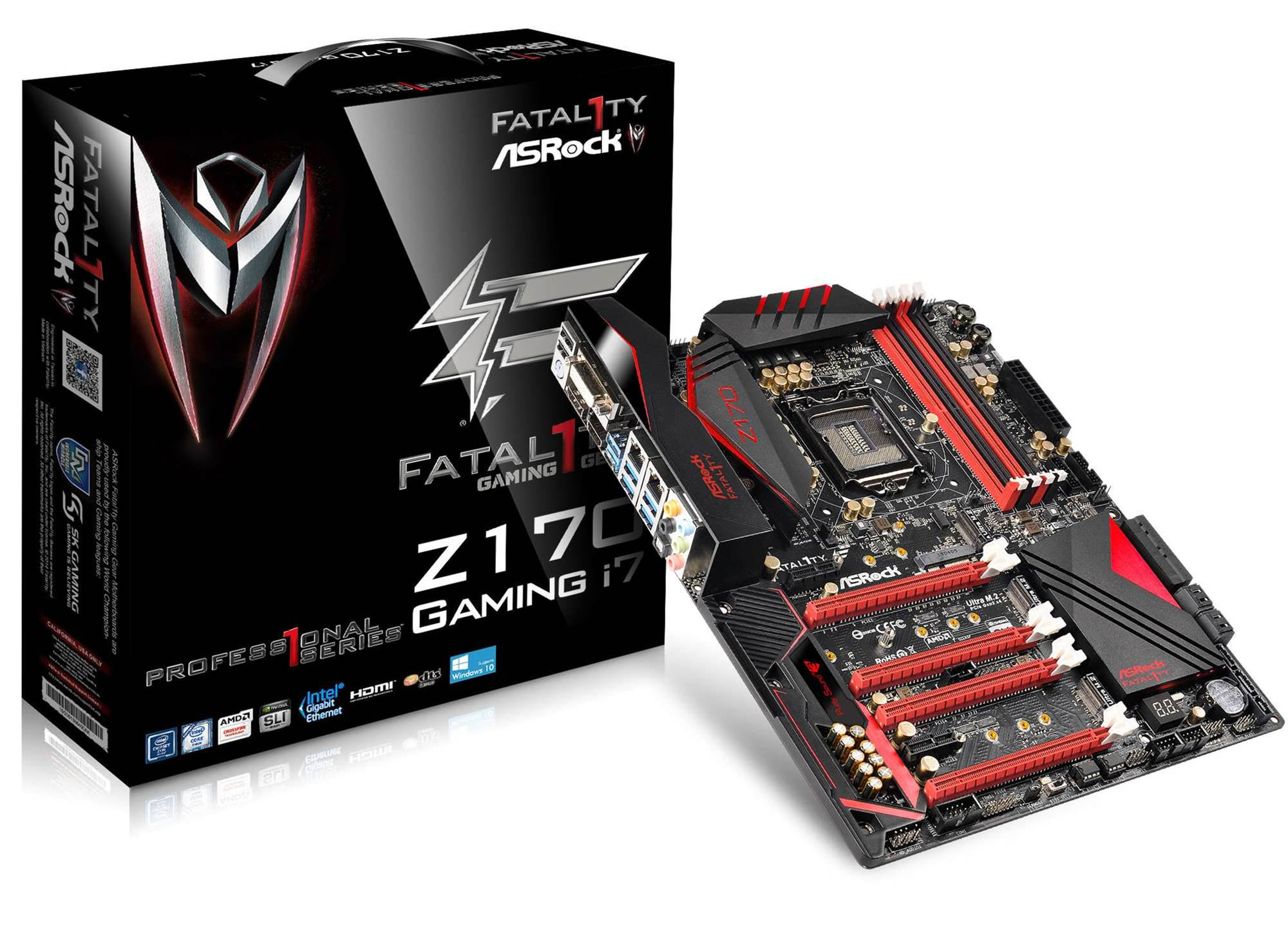 Asrock's new Fatal1ty Z170 Professional Gaming i7 is for 'serious gamers'
