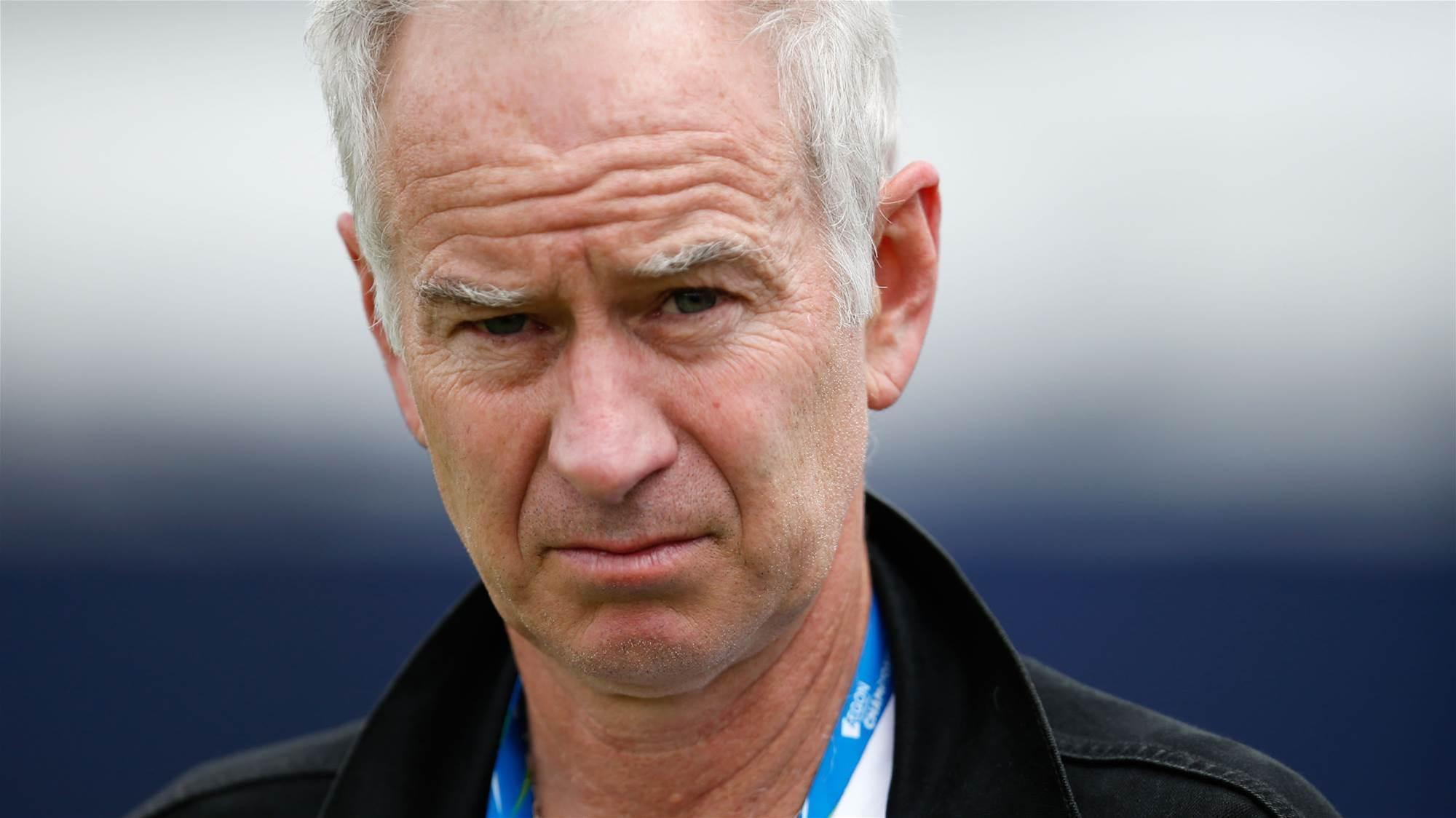 "McEnroe labels Kyrgios ""black eye for the sport"""