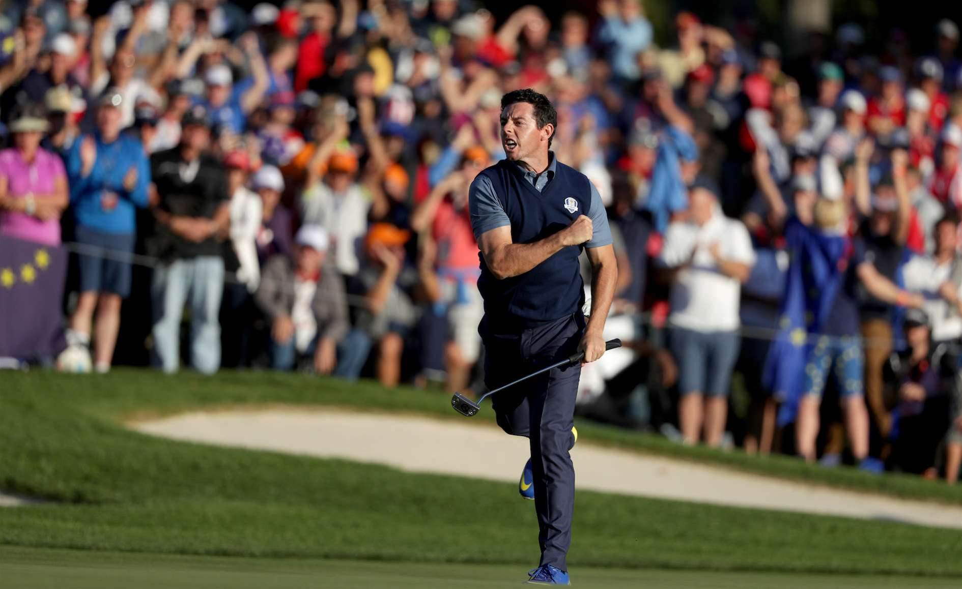 RYDER CUP: McIlroy leads spirited European fightback