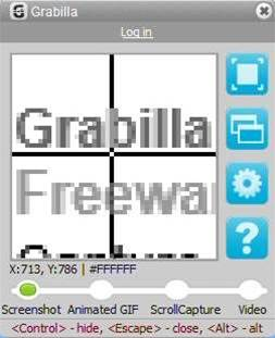 Grabilla 1.23 adds scrolling window captures