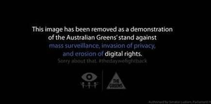 Greens go black to fight online surveillance