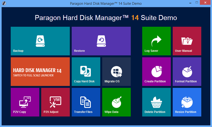 Paragon Hard Disk Manager 14: Windows 8.1 and Bitlocker support
