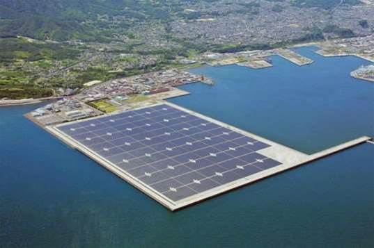 Kyocera builds Japan's largest off-shore solar plant