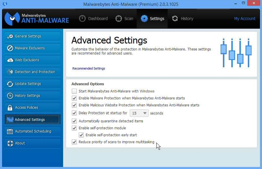 Malwarebytes Anti-Malware 2.03 adds keyboard navigation support